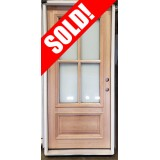 "#Z51905 36"" x 6'8"" 4-Lite Mahogany Door with Satin Etch Glass"
