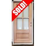 "#Z51905 36"" x 6'8"" 4-Lite Mahogany Door with Satin Etch Glass"