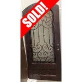 "#Z61803 46"" x 98"" Iron Door with Aquatex Glass"