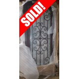 "#Z61805 46"" x 98"" Iron Door with Aquatex Glass (interior glass broken)"
