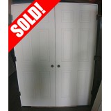 "#Z61807 5'0"" x 6'8"" 6-Panel Double Interior Door"