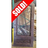 "#Z61811 46"" x 98"" Iron Door with Aquatex Glass"
