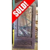 """#Z61811 46"""" x 98"""" Iron Door with Aquatex Glass"""