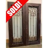 """#Z61901 76"""" x 98"""" Iron Double Door"""