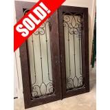 """#Z61902 76"""" x 98"""" Iron Double Door"""