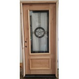 "#Z61904 36"" Texas Star 3/4 Lite Knotty Alder in Alder Jambs"