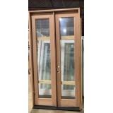 #Z620010 4-0 8-0 Full Lite Mahogany Double Door