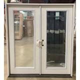 #Z620012 6-0 6-8 (Retro) Full Lite Fiberglass Double Door