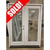 #Z620013 5-0 6-8 (Retro) Full Lite Fiberglass Double Door