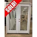 #Z620014 5-0 6-8 (Retro) Full Lite Steel Double Door (Outswing)