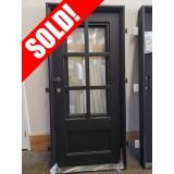 "#Z81903 37-1/2""x 81-1/2"" 6-Lite Low-E Tiffany Iron Door"