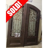 "#Z81904 76"" x 98"" Double Iron Door w/Eyebrow Top"