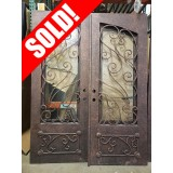 """#Z81905 76"""" x 98"""" Double Iron Door w/Square Top"""