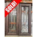 "#Z81906 76"" x 98"" Double Iron Door w/Eyebrow Top"