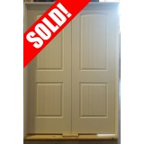 #Z91803 2-Panel Arch V-Groove Interior Double Doors (4-0 and 5-0)