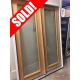 #Z91808 6-0 8-0 Unf Mahogany Full Lite Double Doors (Scratch 'n Dent)