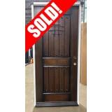 """#Z092006 36"""" Rustic Mahogany Prehung Door #320"""
