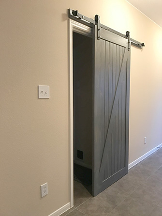 Incroyable Before, Barn Door Sliding Track Diy Installation